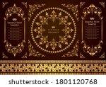 set of vintage elements for... | Shutterstock .eps vector #1801120768