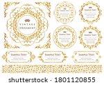 set of vintage elements for... | Shutterstock .eps vector #1801120855