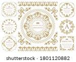 set of vintage elements for... | Shutterstock .eps vector #1801120882