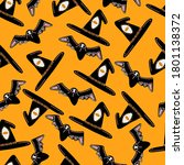 cool pattern for halloween from ... | Shutterstock .eps vector #1801138372