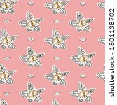 cool pattern for halloween from ... | Shutterstock .eps vector #1801138702