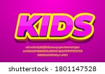 pink kids and yellow 3d text...   Shutterstock .eps vector #1801147528