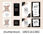 social media sale banners. set... | Shutterstock .eps vector #1801161382