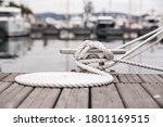 Nautical Mooring Line Rope On...
