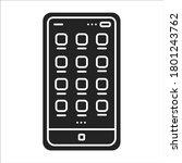 mobile ui design black glyph...