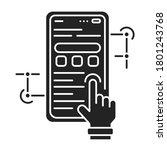app development black glyph...