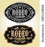 Rodeo Champion   Cowboy Belt...