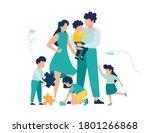 vector illustration of a happy... | Shutterstock .eps vector #1801266868