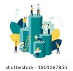vector illustration  virtual... | Shutterstock .eps vector #1801267855