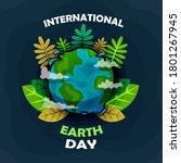 international earth day...   Shutterstock . vector #1801267945