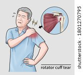 Shoulder Pain Man With Rotator...