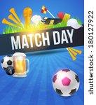 football event poster template... | Shutterstock .eps vector #180127922