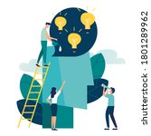 business concept vector...   Shutterstock .eps vector #1801289962