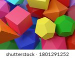 Polyhedra Of Different Colors....