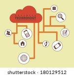 advanced technology flat over... | Shutterstock .eps vector #180129512