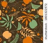 Seamless Vector Autumn Pattern. ...