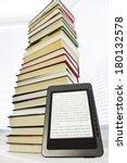 ebook reader on a light... | Shutterstock . vector #180132578