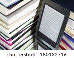 e book reader against the...   Shutterstock . vector #180132716