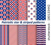 seamless star   striped patterns | Shutterstock .eps vector #180133442