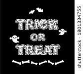 trick or treat hand drawn... | Shutterstock .eps vector #1801334755