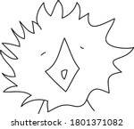 cute monster bird. halloween... | Shutterstock .eps vector #1801371082