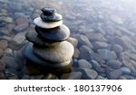 Zen Balancing Rocks On Pebbles...