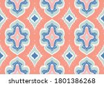 ikat geometric folklore...   Shutterstock .eps vector #1801386268