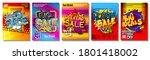 comic book style social media... | Shutterstock .eps vector #1801418002