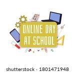 banner template for online day...   Shutterstock .eps vector #1801471948