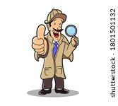 detective cartoon character... | Shutterstock .eps vector #1801501132