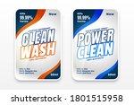 detergent wash labels design... | Shutterstock .eps vector #1801515958