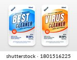 disinfectant and cleaner labels ...   Shutterstock .eps vector #1801516225