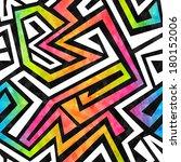 Graffiti Maze Seamless Pattern...