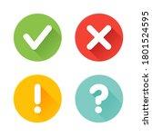vector check mark exclamation...   Shutterstock .eps vector #1801524595