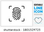 editable line icon of a simple...   Shutterstock .eps vector #1801529725