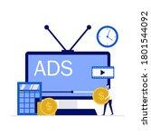 tv marketing  advertisement... | Shutterstock .eps vector #1801544092