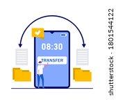 transfer data and document...   Shutterstock .eps vector #1801544122