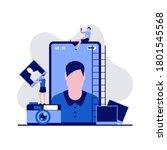 mobile photo production ... | Shutterstock .eps vector #1801545568