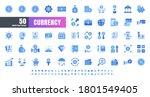 vector of 50 currency financial ... | Shutterstock .eps vector #1801549405