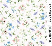 vector seamless floral pattern... | Shutterstock .eps vector #1801562935