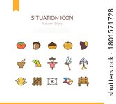 situation icon   autumn icon   Shutterstock .eps vector #1801571728