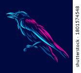 raven corbie beak bird line pop ...   Shutterstock .eps vector #1801574548