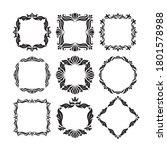 ornamental florish decorative... | Shutterstock .eps vector #1801578988