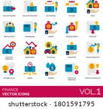 finance icons including account ... | Shutterstock .eps vector #1801591795