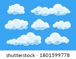 simple cartoon clouds vector... | Shutterstock .eps vector #1801599778
