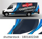 van car wrapping decal.... | Shutterstock .eps vector #1801602268