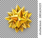 vector gold realistic bow... | Shutterstock .eps vector #1801624225