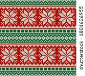 holiday knitted sweater... | Shutterstock .eps vector #1801626955