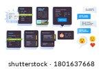 app interface elements.... | Shutterstock .eps vector #1801637668
