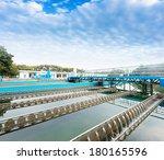 modern urban wastewater...   Shutterstock . vector #180165596